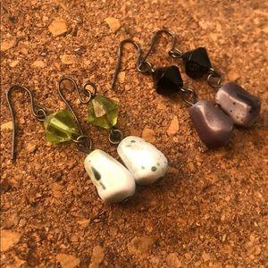 2pairs vintage hook earrings bundle